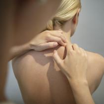 Massage, Entspannung, Muskelverspannung Hals